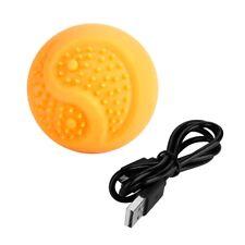 Pet Dog Puppy LED Light Up Elastic Silicone Flashing Sensory Glowing Ball Toy