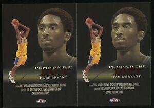 Investor Lot Of (2) 1998 Skybox Pump Up The Jam #4 Kobe Bryant Lakers HOF