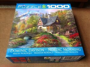 """Eurographics 1000 piece Puzzle """"Nordic Morning"""" by Dominic Davison-COMPLETE"""
