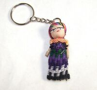 Worry Doll Dolls Keyring Made In Guatemala Fair Trade  Childrens Anxiety