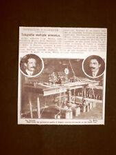 Firenze nel 1910 Telegrafia multipla dell'Ingegner Corrado Andreini di Grosseto