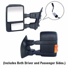 Towing Upgrade Mirrors Power Heated Turn Signal For 99-07 Ford F250 Super Duty