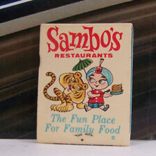 """Vintage 1970/'s Sambo/'s /""""we/'re glad you/'re here/"""" Tiger Restaurant Paper Coaster A"""