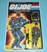 *RECARDED* 1986 GI Joe Low Light Sniper Figure Complete *CUSTOM File Card Back*