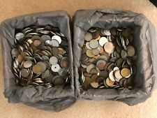 BOX BULK LOT OF 5 Kg MIXED WORLD COINS (E180517)