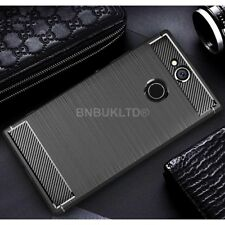 For Sony Xperia XA2 Ultra Carbon Fibre Gel Case Cover Brushed Shockproof Hybrid