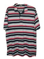Peter Millar Mens L Multicolor Polo Shirt Short Sleeve Striped