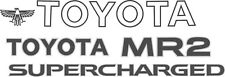 Toyota MR2 MK1 restoration Decals Stickers  AW11 4AGE  Supercharged any colour