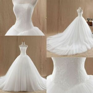 White Lace Sweetheart Wedding Dresses Ball Gowns Tulle Bridal Dresses Custom