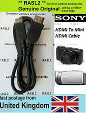 Original Sony HDMI Cable Nxcam HXR- NX70 NX30 DSC- HX100v WX150 Alpha A700 NEX-5