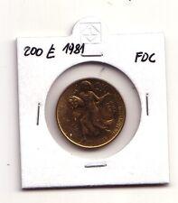 Repubblica Italiana 200 lire 1981  FAO Villa Lubin  Bronzital   FDC   (m930)