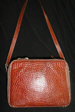 Saks Fifth Avenue Woman's Leather Shoulder Handbag Purse Made in Italy