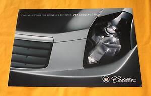 Cadillac CTS 2003 Prospekt Brochure Catalogue Depliant Prospetto Catalog