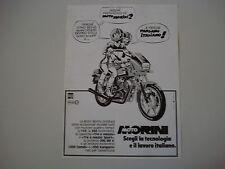 advertising Pubblicità 1983 MOTO MORINI 500