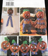 Halloween Jack O Lantern Pumpkin doll pattern garland Applique Face adorable!