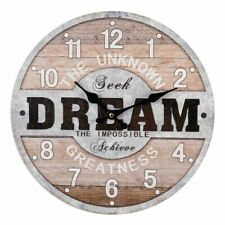 "DREAM ""Love is Kind"" 13"" Wooden Wall Clock by HOMEtime"