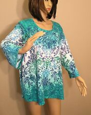 Women's Plus Size 3X ~ PRETTY LIGHTWEIGHT TOP / SHIRT Gorgeous Design! .97