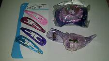 LOT OF LADIES HAIR ACCESSORIES  (PKG OF 4 LG barrettes & 2 hair clips)