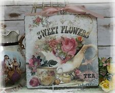 "Vintage ""SWEET FLOWERS...""~Shabby Chic~Country Cottage style~Wall Decor Sign"
