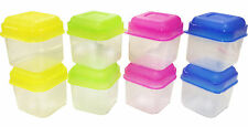 8 X NEW MINI PLASTIC STORAGE BOXES KEEP FOOD FRESH LUNCH SMALL CONTAINER