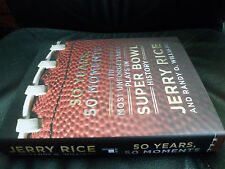 JERRY RICE SIGNED LIMITED - 50 YEARS 50 MOMENTS - SUPER BOWL HISTORY NFL
