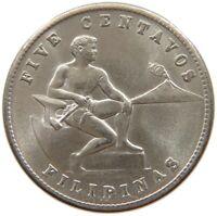 PHILIPPINES US 5 CENTAVOS 1944 S TOP #t135 593