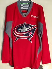 Reebok Practice  NHL Jersey Columbus Blue Jackets Team Red sz 2X