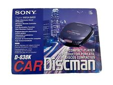 Vtg Sony Car Discman D-838K New Open Box Tested! Car Kit Included!