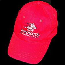 Winchester Firearms Logo Rifle Shotgun Ammo Gun Ammunition Red Baseball Hat Cap