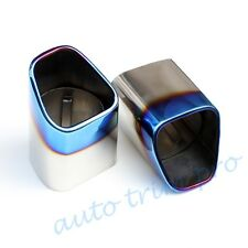 Blue Tailpipe Tail Exhaust Rear Muffler Silencer Trim For Volvo XC60 2010-2013