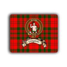 Livingstone Scottish Clan Mousepad Tartan Crest Motto Computer Mouse Pad Mat