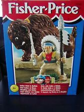 Fisher Price Great Adventures 1999 Indian Chief & Buffalo European Release NIB