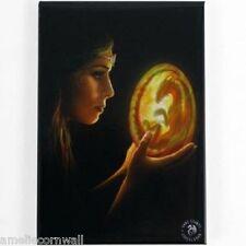 Inicios de tela pared arte Placa Anne Stokes Dragon Wicca Fantasía