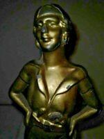 VTG Art Deco Arts & Craft Heavy Metal Female Swashbuckler Privateer Buccaneer