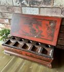 Chinese Antique Wooden Red Lacquer Box