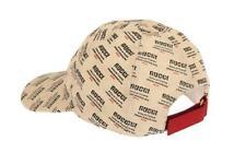 NEW GUCCI MEN'S INVITE PRINT CANVAS LINEN COTTON LOGO BASEBALL CAP HAT 58/M