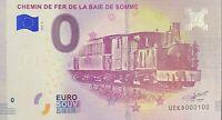 BILLET 0  EURO CHEMIN DE FER DE LA BAIE DE SOMME FRANCE   2018  NUMERO 100