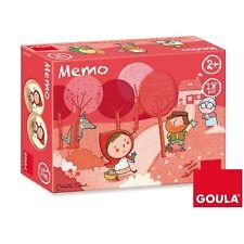 Memo Memory delle Favole -Cappuccetto Rosso- 18 pezzi Legno, Goula 53435