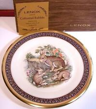 Beautiful MIB Lenox Boehm Woodland Wildlife 1975 Cottontail Rabbit Plate Exlnt