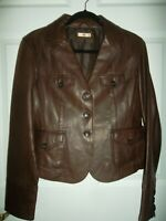 Wilsons Leather Women's  Brown Leather Jacket Size  M