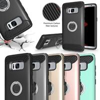 Hybrid Shockproof Ring Stand Hard Case For Samsung Galaxy S7/S7 Edge/S8/S8 Plus