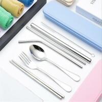 Reusable Stainless Steel Portable Spoon Fork Chopsticks Set Dinnerware Q
