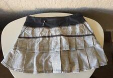 Lululemon Pacesetter Skirt Off White Gray Hyper Stripe 4