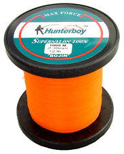 HUNTERBOY OPAQUE ORANGE NYLON FISHING LINE 1000M 12LB SUPER HIGH VISIBILITY MONO