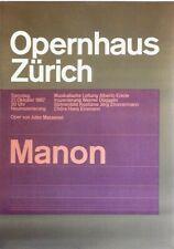 Original vintage poster ZURICH OPERA MANON MASSENET 1967
