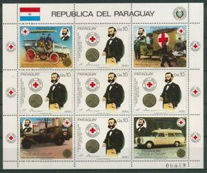 Paraguay 1985 Todestag Dunant, Rotes Kreuz 3896 Kleinbogen postfrisch (C22713)