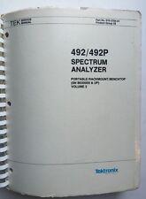 Tektronix 492/492P Service Manual Vol 2 P/N 070-3784-01 Rev Apr 1985