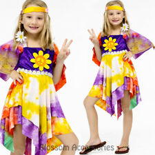 CK608 Girls Daisy Hippy 60s 70s Retro Hippie Dancing Groovy Disco Fancy Costume