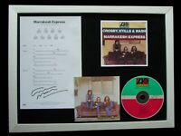 CROSBY STILLS NASH+SIGNED+FRAMED+MARRAKESH EXPRESS=100% GENUINE+FAST+GLOBAL SHIP