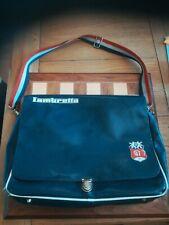 Vintage ? Vinyl Blue Lambretta 47 Messenger Laptop Shoulder Bag Satchel MOD